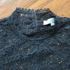 LOFT Tops - LOFT grey lace top